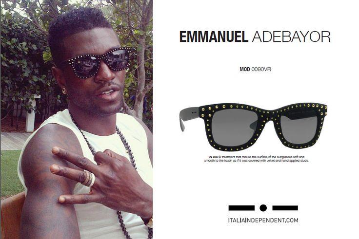 Ο Emmanuel Adebayor με γυαλιά ηλίου #ItaliaIndependent I-V Rock 0090VR 009.B12. Για να κάνεις τη διαφορά καν' το δικό σου τώρα! #OptoFashion http://goo.gl/z1yNvb
