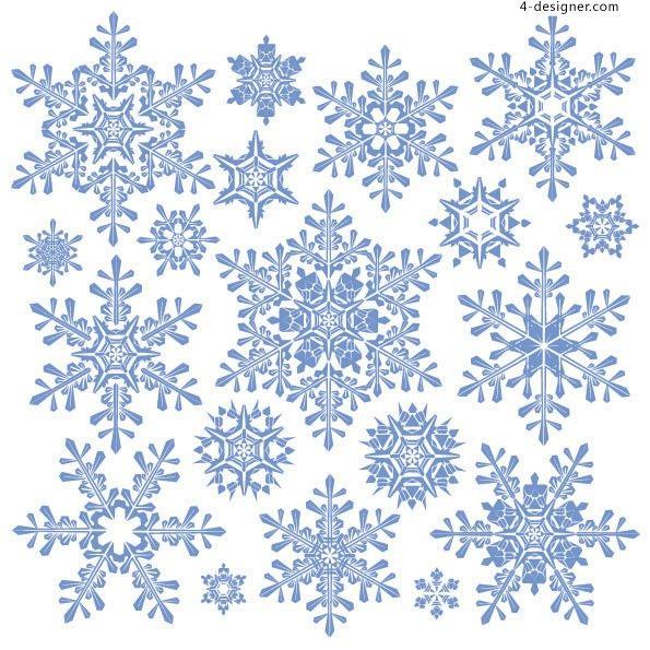 Snowflake vector material 2