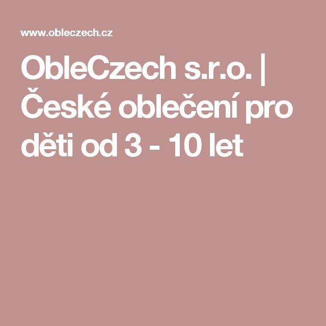 ObleCzech s.r.o. | České oblečení pro děti od 3 - 10 let