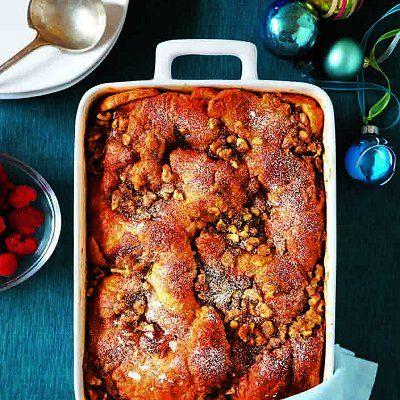 Croissant sticky-bun bread pudding recipe - Chatelaine.com