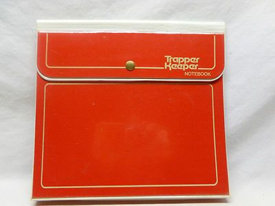 Vtg Retro 80's Original Red Snap Button Trapper Keeper School Folder Binder | eBay