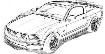ford mustang 2009 coloring page