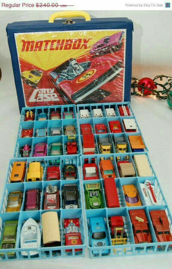 MATCHBOX cars and carrying case; My brother had this in the mid 1970s.