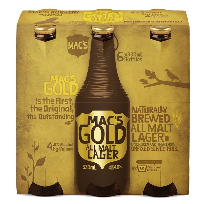 Really fun design by Shinefor Mac's Brewery. The textured bottle is a nice  touch.