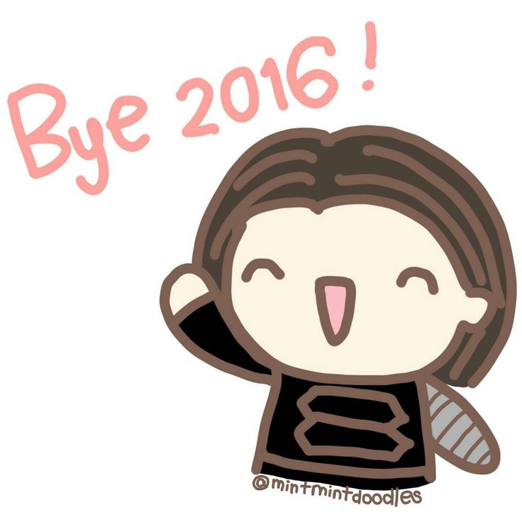 Happy New Year's Eve. Thank you for your support throughout the year. It means a lot to me ❤️ I can't wait to see what my future self will doodle in 2017 :) #buckybarnes #wintersoldier #sebastianstan #mintmintdoodles