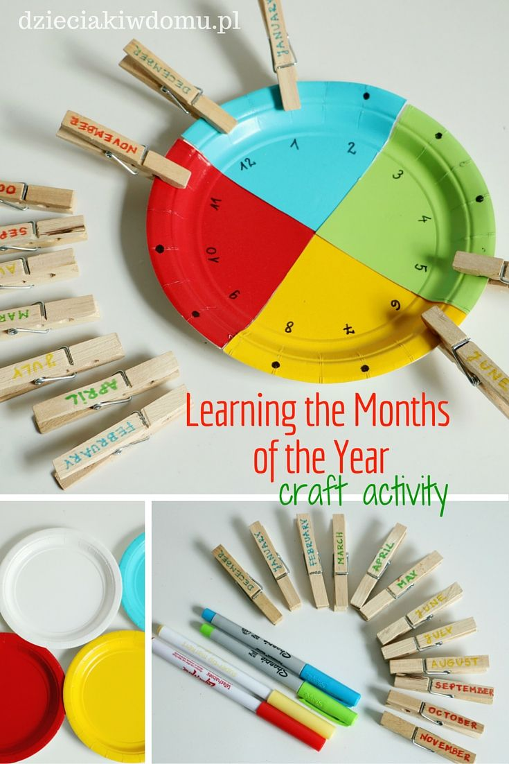 Learning the months of the year - craft activity for kids