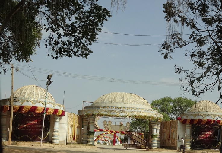 A celebration for new chapter in life..... a marriage hall decoration in Bangalore India