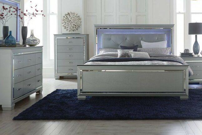 Boden Tufted Upholstered Standard Bed Upholstered Panel Bed Black Bedroom Sets Upholstered Platform Bed
