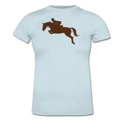 Pferde Springen Lady T-Shirt