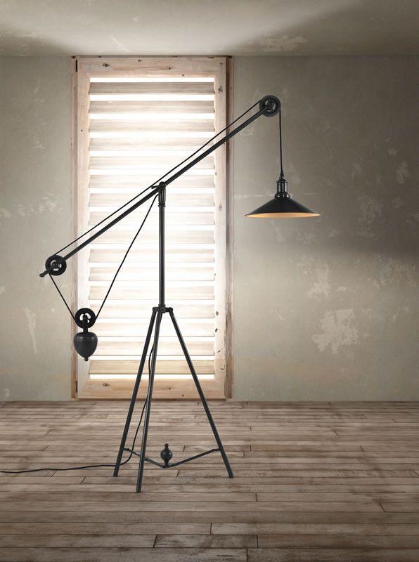 Zuo Jasper Floor Lamp Antique Black Gold – Modish Store