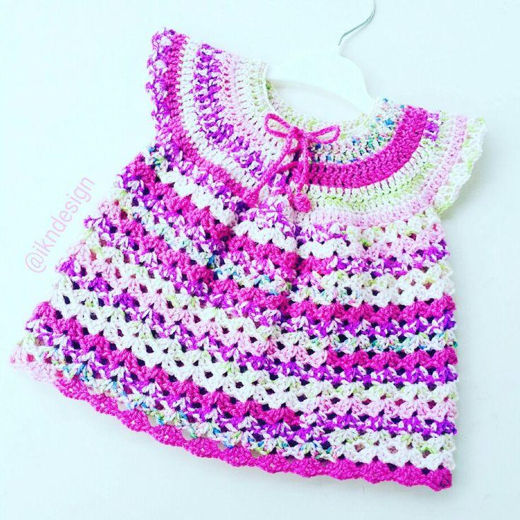 #ikndesigncrochet #babydress #bebekelbisesi #tigisi