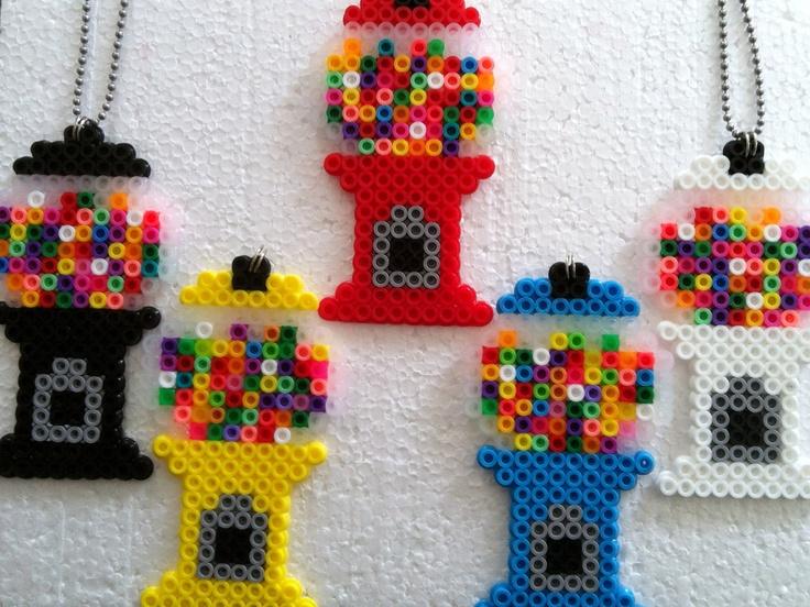 Gumball Machine Chain 12 00 Via Etsy Perler Bead