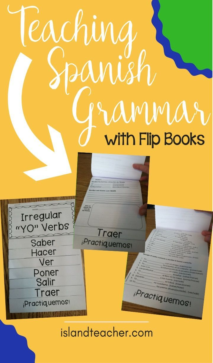 Teaching Spanish Grammar with Flip Books. Tired of traditional note taking? Try flip books to engage students and organize information.