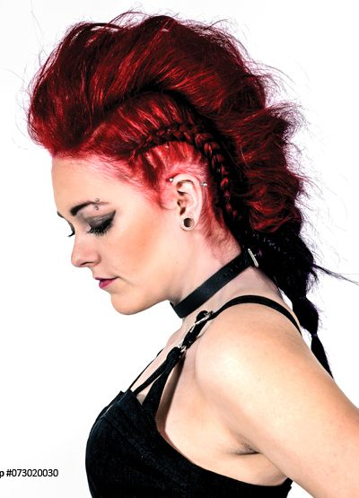 Punk rock hairstyle Vampire red Manic Panic Red hairdye 2014haarverf | Attitude Holland