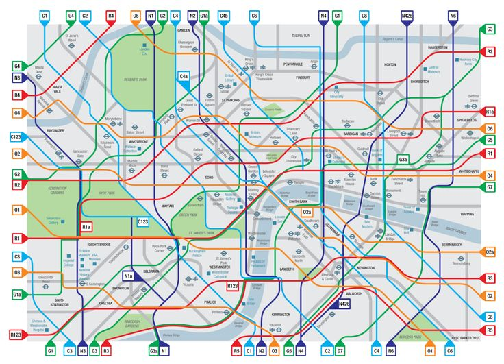 simon parker's london cycle map