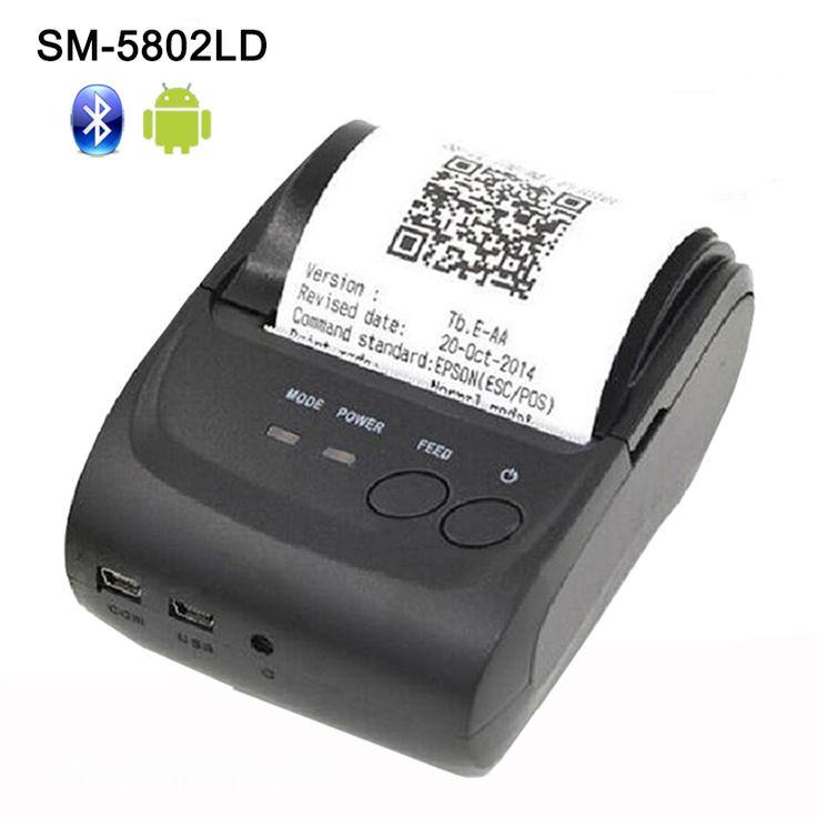 58mm Bluetooth Impresora Térmica de Recibos Bluetooth Impresora portátil bluetooth USB/serial port para Windows Android POS Impresora