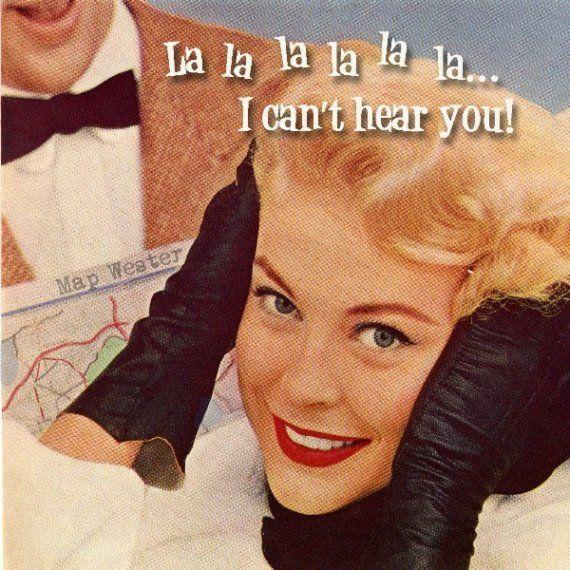 Hearing, Work Humor, La La, Alarm Clocks, Retro Humor, Birthday Cards, Funny, Devon, Lalala