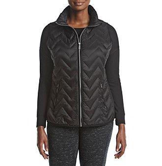 Calvin Klein Performance Plus Size Chevron Quilted Down Vest