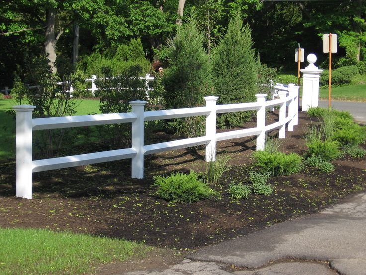 white split rail fence - Google Search