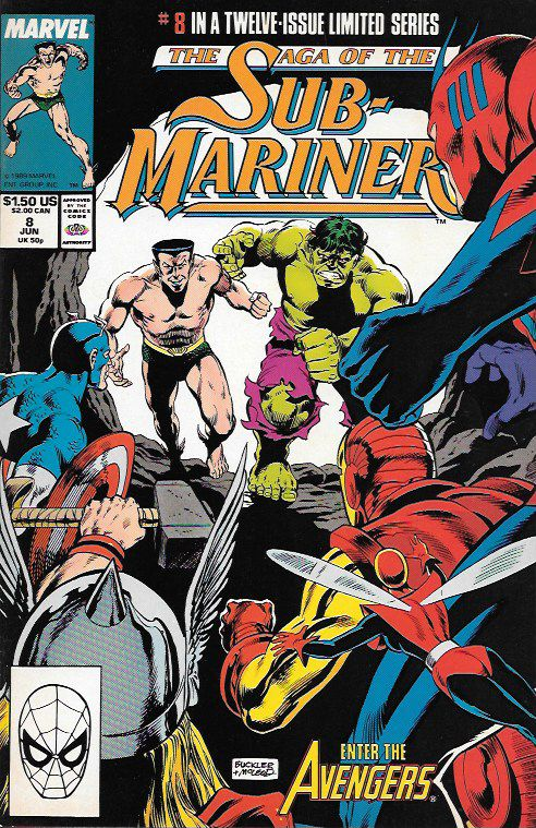 Avengers __script by Roy Thomas and Dann Thomas, pencils by Rich Buckler , Cover art by Rich Buckler , The Story .. recaps Fantastic Four Annual #1, Avengers #3-4, etc. Subby, Bill, and Me: Part 7 of