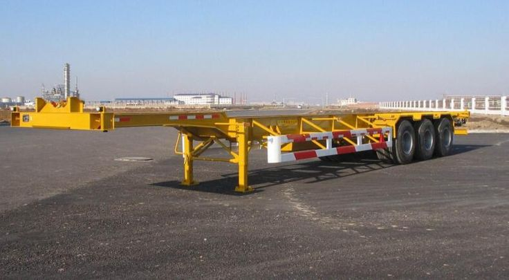 Foto de 40 toneladas Flatbed Container Semi Trailer para Sale en es.Made-in-China.com