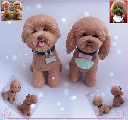 Find More Clay Crafts Information about Handmade Custom  Animal Figurine /Polymer Clay poodle Dog Doll 8CM Home Decoration/Car Decoration/Free Shipping,High Quality decorate dog house,China decorative dog beds Suppliers, Cheap dog statue from ShangHai  Pet  Dog  Decoration Shop on Aliexpress.com