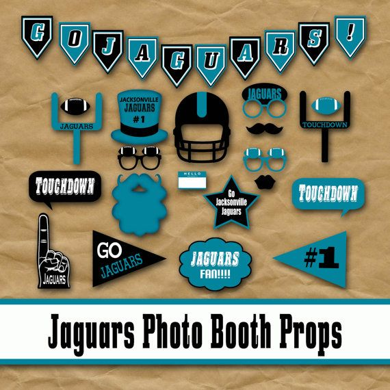 Jacksonville Jaguars Football Photo Booth Props and Decorations