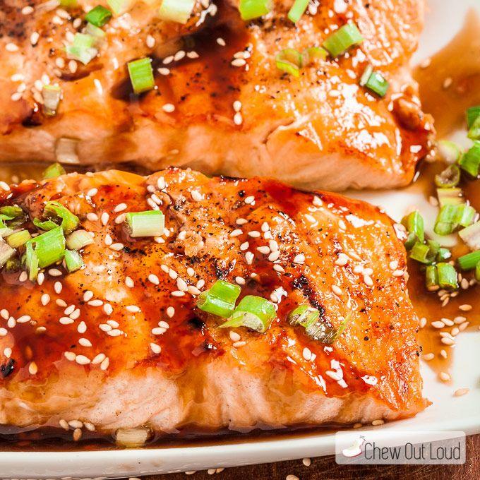 Grilled Teriyaki Salmon - Chew Out Loud