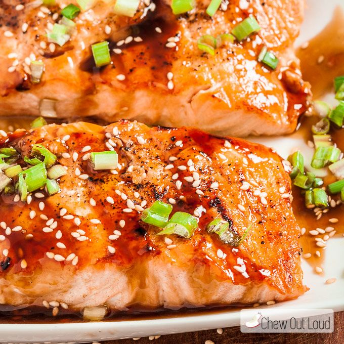 Grilled Teriyaki Salmon - Chew Out Loud