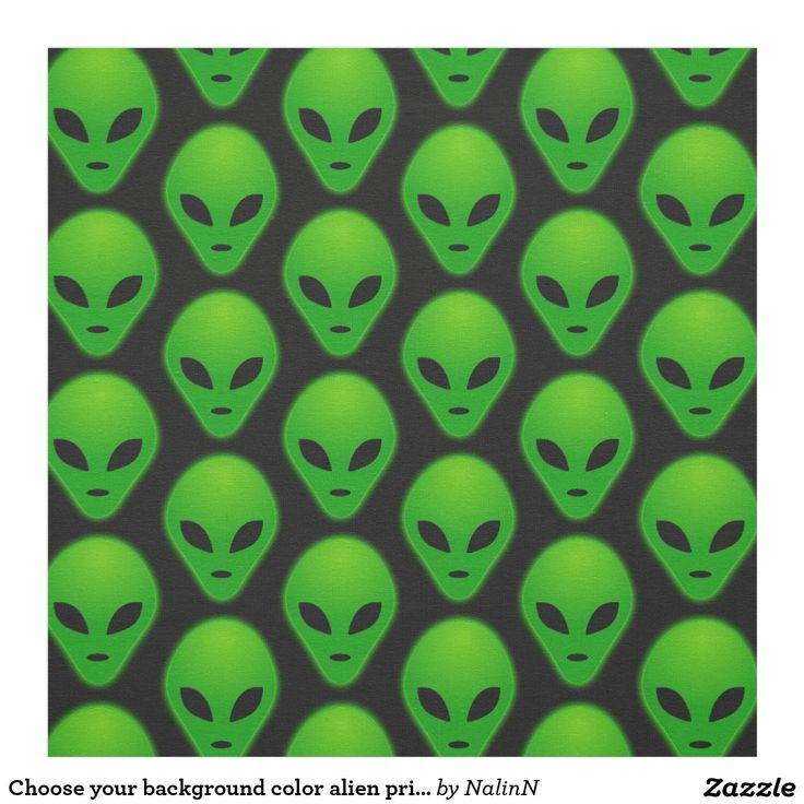 Choose your background color alien print fabric