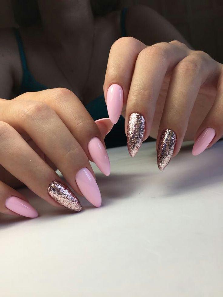 Stiletto Sommernägel von Mamura Nails, rosa Nägeln – Nageldesign