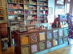 Dream storage: make lower candy storage by taking old windows and making them cabinet doors.  have false back and fill with display candy.