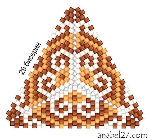 Схемы треугольников - мозаичное плетение 1   - Схемы для бисероплетения / Free bead patterns -