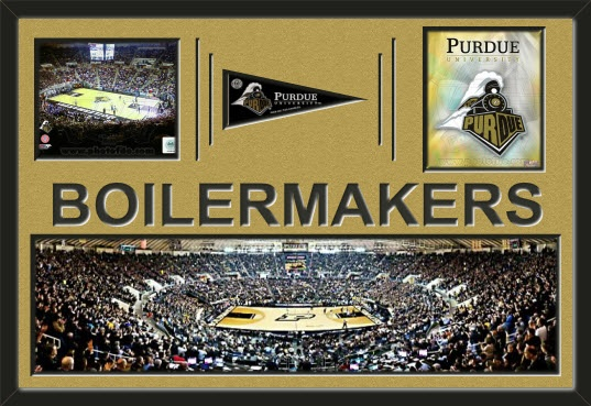 Two Framed 8 X 10 Inch Purdue University Photos Of Mackey