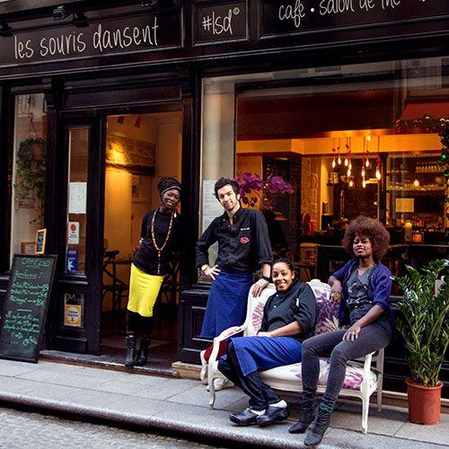 Les Souris Dansent : le parfait bar pour s'encanailler. Cocktails, planches, tapas à prix friendly & DJ en we...Metro Etienne Marcel