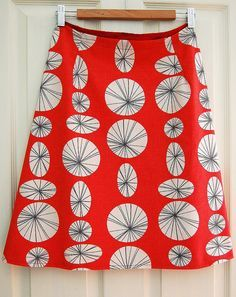 by indiaeden, via Flickr - a line skirt tutorial, i love the simplicity of the design