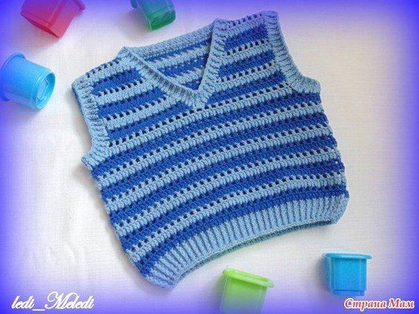 Delicadezas en crochet Gabriela: Punto para realizar chaleco de niños