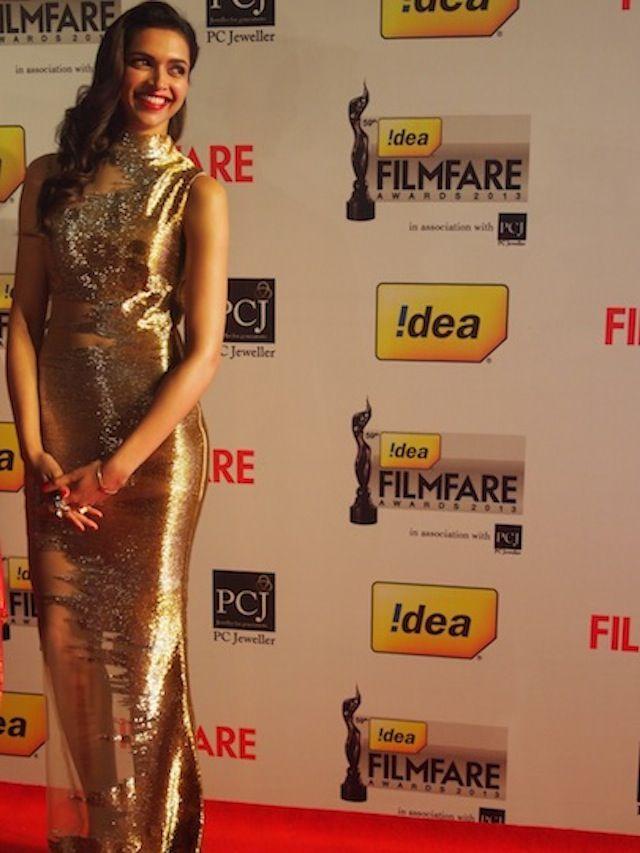 Deepika Padukone on Filmfare Awards red carpet. #Style #Bollywood #Fashion…
