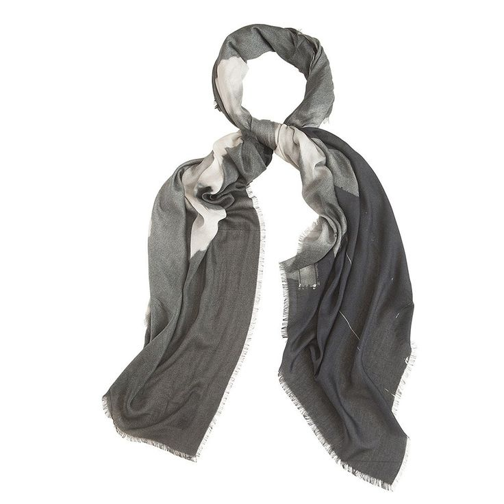 Bird & Knoll - london | river silhouettes cashmere blend scarf. Made in Italy. #birdandknoll