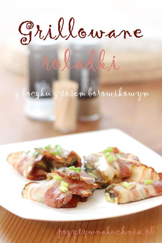 Grillowane roladki z boczku z sosem borowikowym - #przepis na roladki z boczku z grzybami  http://pozytywnakuchnia.pl/grillowane-roladki-z-boczku-z-borowikami/  #kuchnia #boczek #grzyby #grill