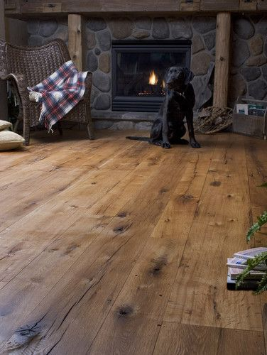 Antique Oak Random Width - traditional - wood flooring - new york - Heritage Wide Plank Flooring -- OBSESSED!