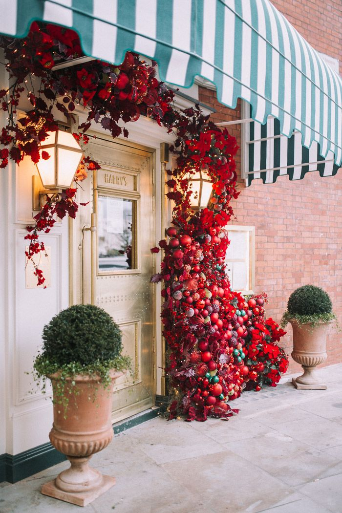 baubles, christmas floral design, christmas in london, christmas