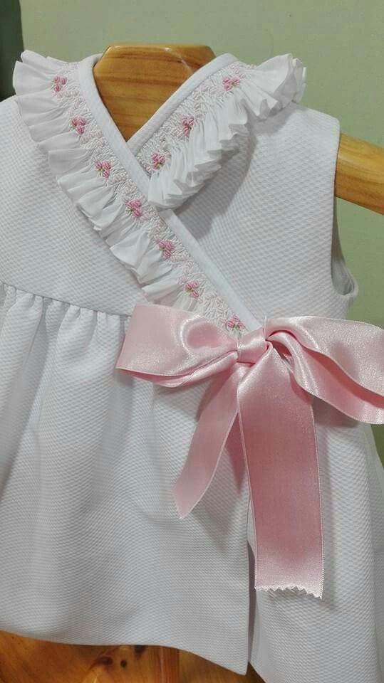 Stunning smocked trim!