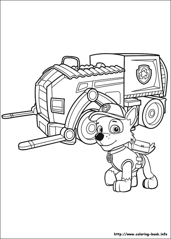 Paw Patrol coloring picture (med bilder