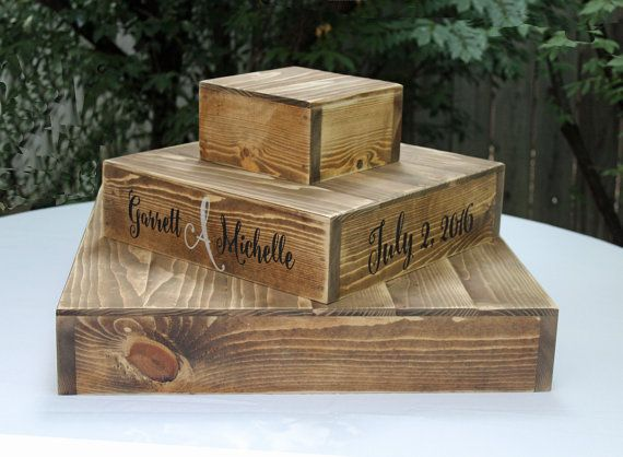 Wood CUPCAKE Stand RUSTIC WOODEN Wedding by AbsoluteImpressions