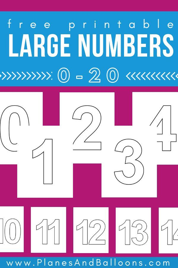 Large Printable Numbers 1 20 For Simple Number Activities