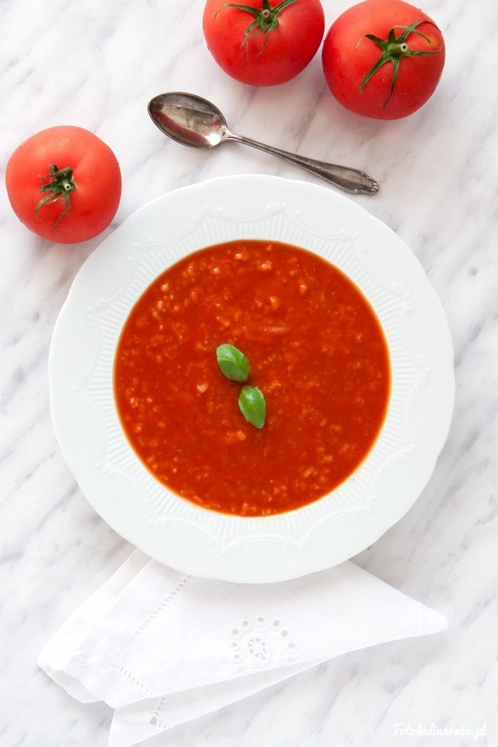 Quick Creamy Tomato Rice Soup.