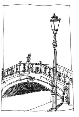 Shiho Nakaza Illustration and Sketch Blog: Sketchcrawl: Venice vs. Venice