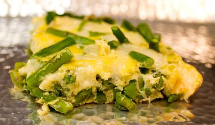 Asparagus and Swiss Cheese Frittata | BREAKFAST!! | Pinterest